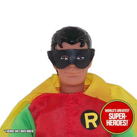 "Robin Cloth & Leather Mask Mego WGSH Reproduction for 8"" Action Figure - Worlds Greatest Superheroes"