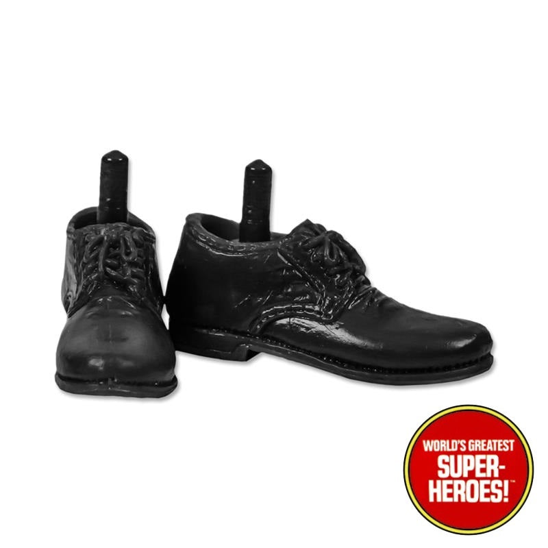 "Type S Male Black Dress Shoes  For 8"" Action Figure"