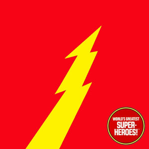 "Flash Golden Age Mego Vinyl Custom Decal Emblem Sticker for WGSH 8"" Figure"