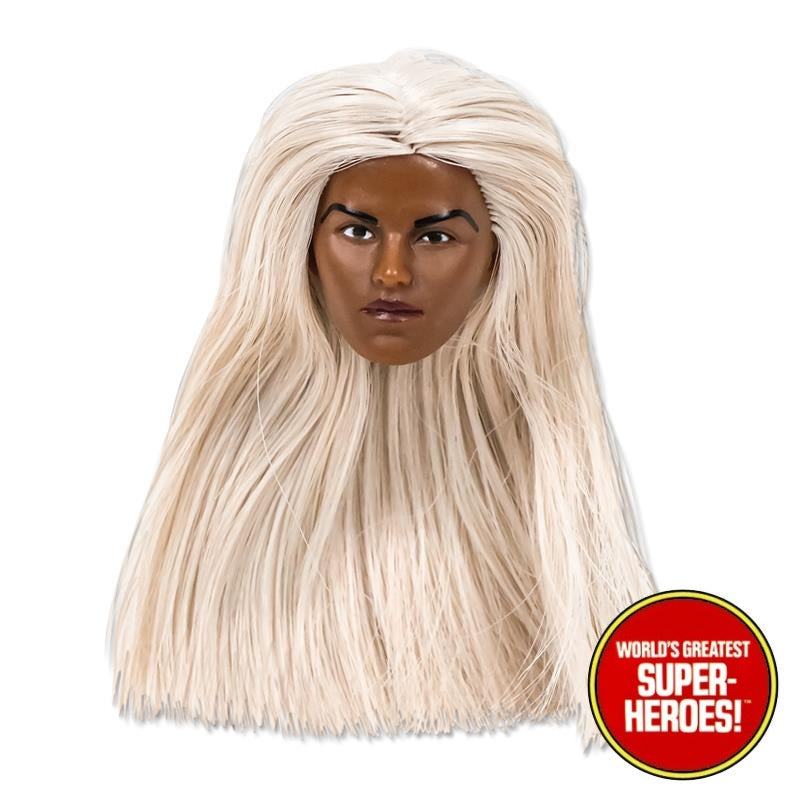 "Grey Hair Type S Female Head for African Brown Custom 8"" Action Figure"