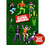 "Green Arrow 1977 WGSH Repro Mego Blister Card For 8"" Action Figure - Worlds Greatest Superheroes"
