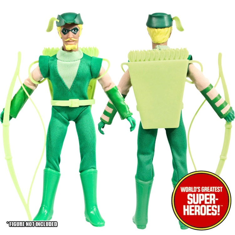 "Green Arrow JLA Complete Mego Repro Outfit For 8"" Action Figure - Worlds Greatest Superheroes"