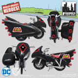 DC Comics Mego Retro Batman Batcycle Playset (Black) - Worlds Greatest Superheroes