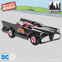 DC Comics Mego Retro Batman Batmobile Playset (Black) - Worlds Greatest Superheroes