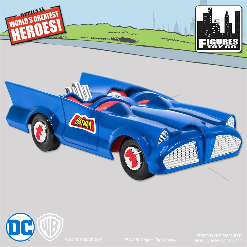 DC Comics Mego Retro Batman Batmobile Playset (Blue) - Worlds Greatest Superheroes