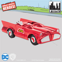 DC Comics Mego Retro Batman Batmobile Playset (Red) - Worlds Greatest Superheroes