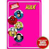 "Hulk 1975 Official WGSH Repro Mego Blister Card For 8"" Action Figure - Worlds Greatest Superheroes"