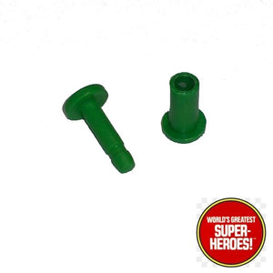 "Hulk Green Knee Pin Mego Replacement Set for 8"" Action Figure - Worlds Greatest Superheroes"