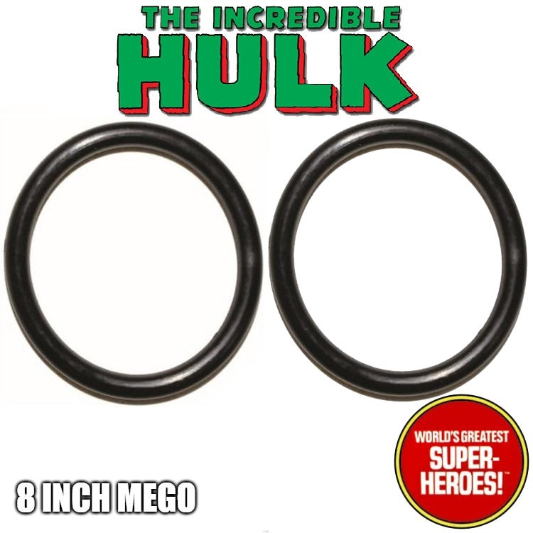"Mego Hulk Body Rubberband Replacement Elastics (2 pcs) for WGSH 8"" Action Figure - Worlds Greatest Superheroes"