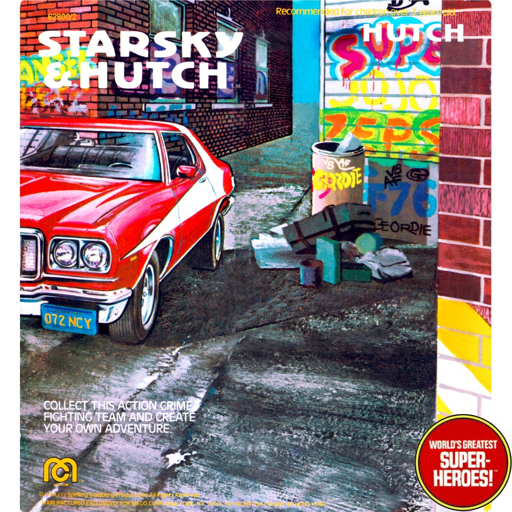"Starsky & Hutch: Hutch Mego Repro V1.0 Blister Card For 8"" Action Figure"