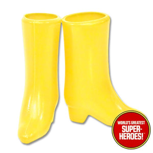 "Batgirl Boots Mego  World's Greatest Superheroes Repro for 8"" Action Figure - Worlds Greatest Superheroes"