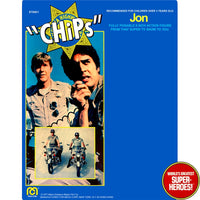 "CHiPs: Jon Mego Repro Blister Card For 8"" Action Figure"