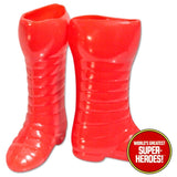 "Iron Man Boots Mego World's Greatest Superheroes Repro for 8"" Action Figure - Worlds Greatest Superheroes"