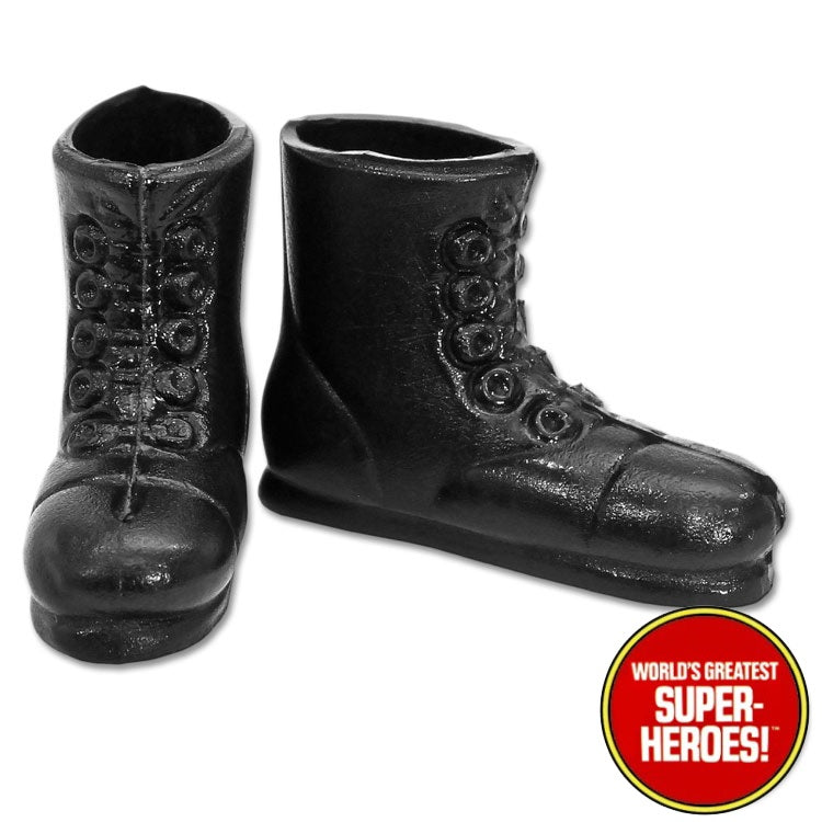"Planet of the Apes: Astronaut Black Boots Repro for Mego for 8"" Action Figure - Worlds Greatest Superheroes"