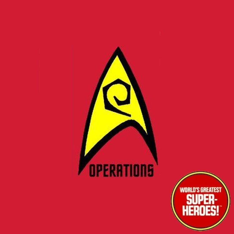 "Star Trek: Operations Die Cut Decal Emblem Sticker for Mego 8"" Action Figure"