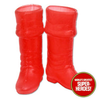 "Captain America Custom Boots Mego World's Greatest Superheroes for 8"" Action Figure - Worlds Greatest Superheroes"