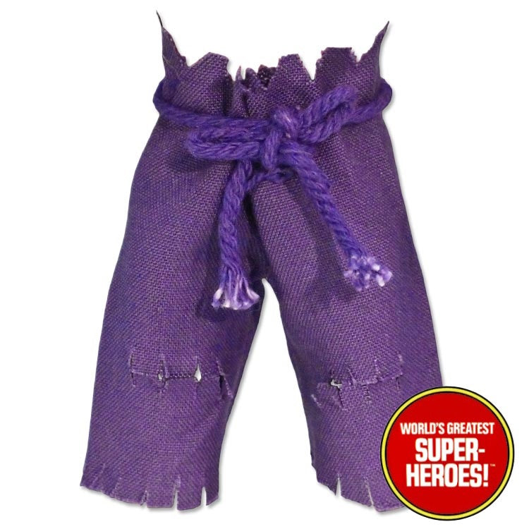 "Hulk Purple Pants Mego World's Greatest Superheroes Repro for 8"" Action Figure - Worlds Greatest Superheroes"
