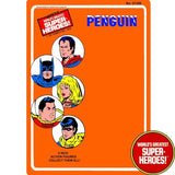 "Penguin 1976 Official WGSH Repro Mego Blister Card For 8"" Action Figure - Worlds Greatest Superheroes"