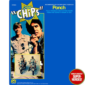 "CHiPs: Ponch Mego Repro Blister Card For 8"" Action Figure"