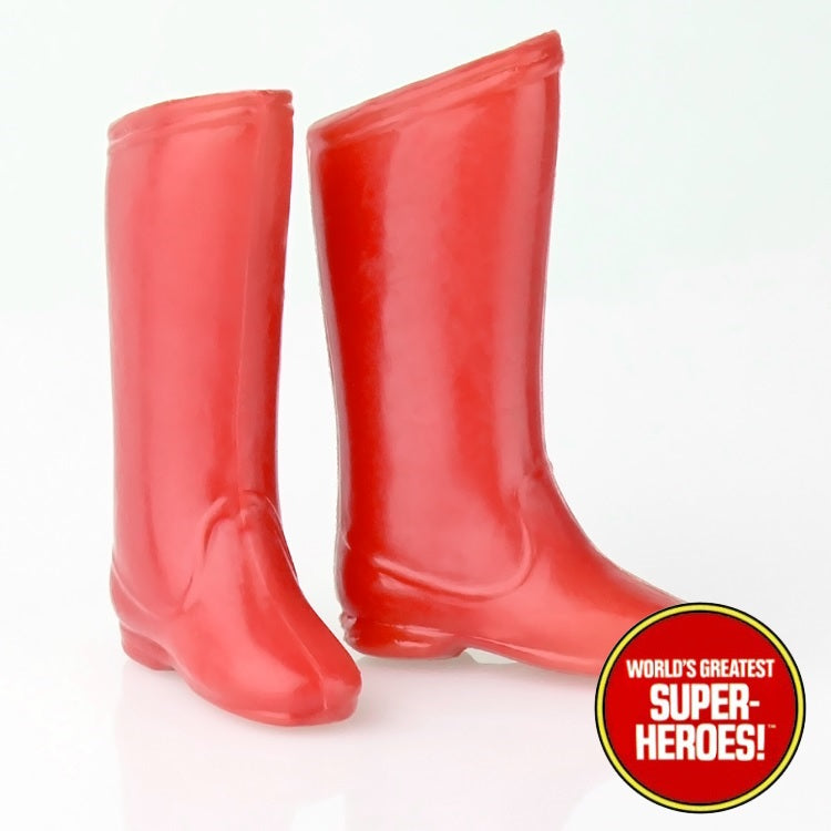 "Captain America Boots Mego World's Greatest Superheroes Repro for 8"" Action Figure - Worlds Greatest Superheroes"