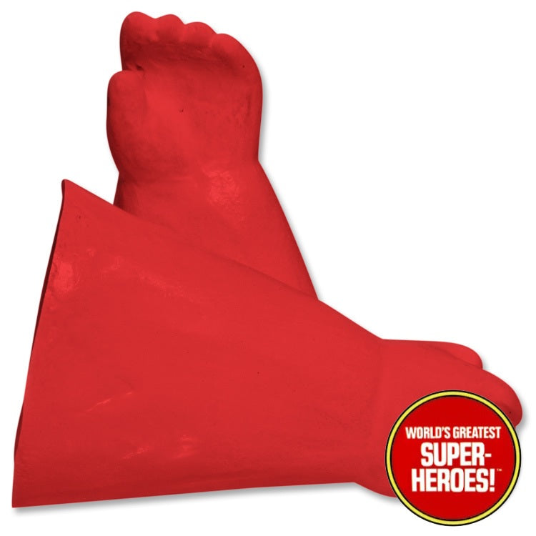 "Captain America Custom Red Rubber Gloves Mego WGSH for 8"" Action Figure - Worlds Greatest Superheroes"