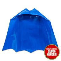 "Batman Removable Cowl Vinyl Cape Mego WGSH Reproduction for 8"" Action Figure - Worlds Greatest Superheroes"