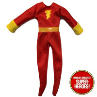 "Shazam Outfit Bodysuit Mego WGSH Reproduction for 8"" Action Figure - Worlds Greatest Superheroes"