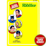 "Riddler 1976 Official WGSH Repro Mego Blister Card For 8"" Action Figure - Worlds Greatest Superheroes"