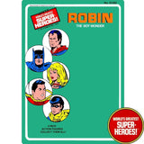 "Robin 1976 Official WGSH Repro Mego Blister Card For 8"" Action Figure - Worlds Greatest Superheroes"