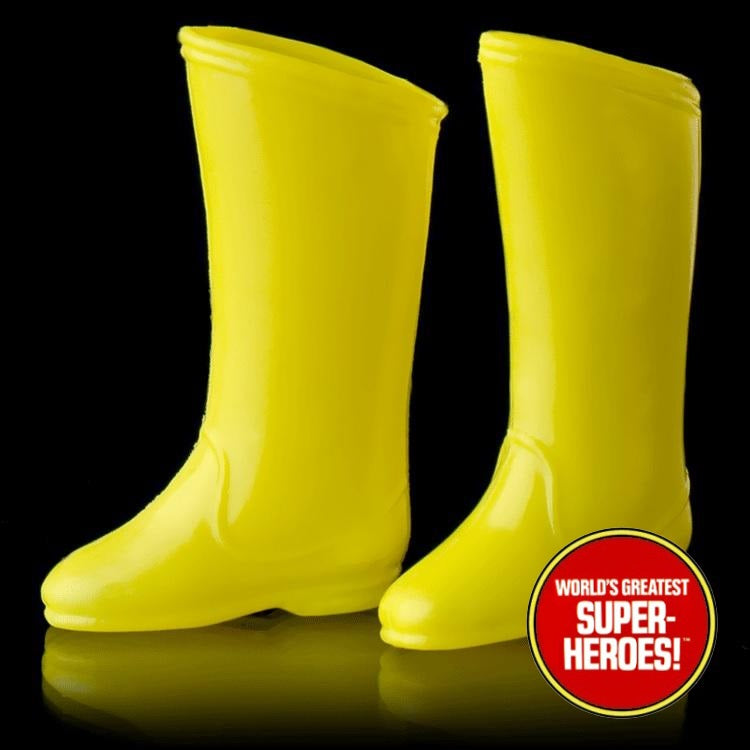 "Shazam Boots Mego World's Greatest Superheroes Repro for 8"" Action Figure - Worlds Greatest Superheroes"