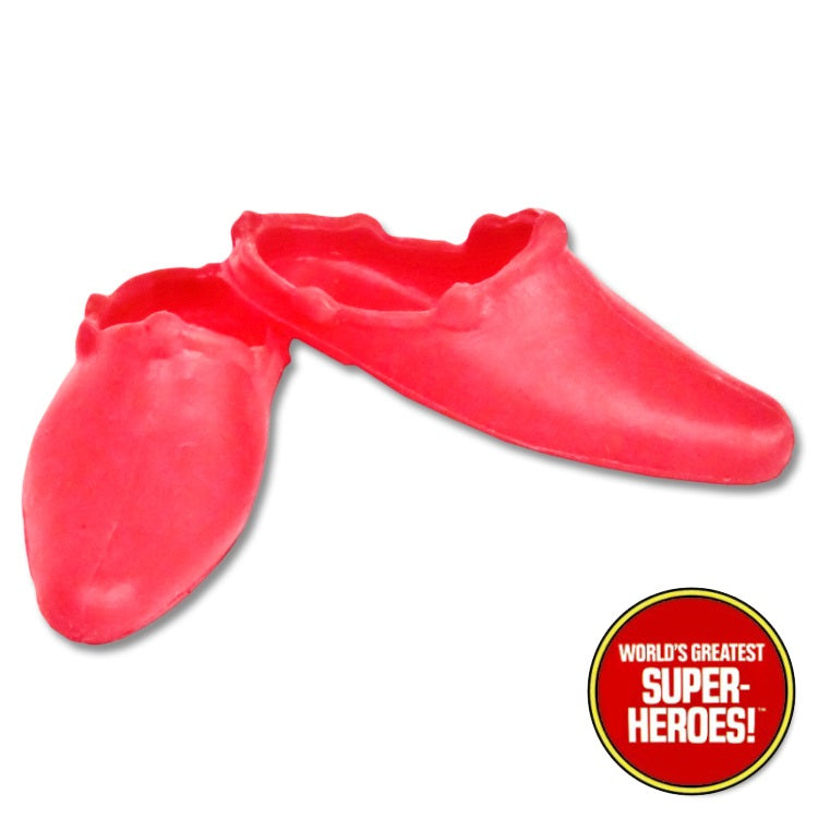 "Supergirl Shoes Mego World's Greatest Superheroes Repro for 8"" Action Figure - Worlds Greatest Superheroes"