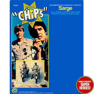 "CHiPs: Sarge Mego Repro Blister Card For 8"" Action Figure"