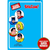 "Shazam 1976 Official WGSH Repro Mego Blister Card For 8"" Action Figure - Worlds Greatest Superheroes"