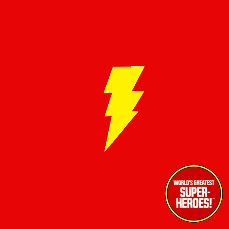 "Shazam Mego Die Cut Custom Decal Emblem Sticker for WGSH 8"" Figure - Worlds Greatest Superheroes"