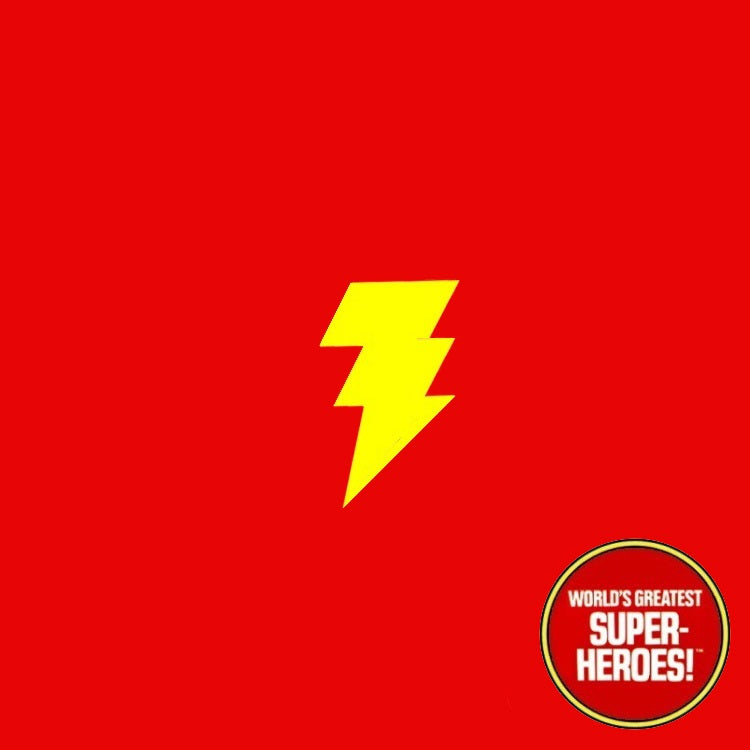 "Shazam Mego Die Cut Repro Decal Emblem Sticker for WGSH 8"" Figure - Worlds Greatest Superheroes"