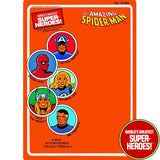 "Spider-Man 1979 WGSH Repro Mego Blister Card For 8"" Action Figure - Worlds Greatest Superheroes"