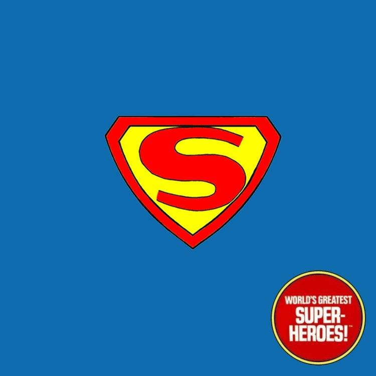 "Superman 1940 V2.0 Mego Custom Decal Emblem Sticker for WGSH 8"" Figure"
