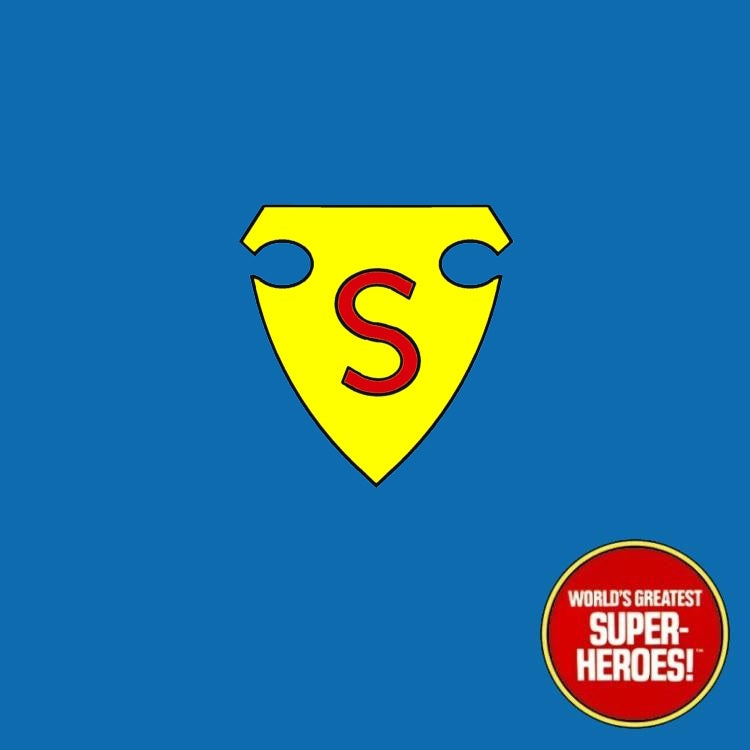 "Superman 1938 1st Appearance Mego Custom Decal Emblem Sticker for WGSH 8"" Figure - Worlds Greatest Superheroes"