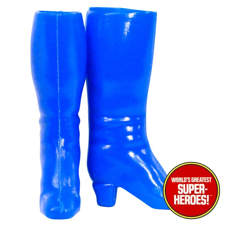 "Wonder Girl Blue Boots Mego World's Greatest Superheroes Repro for 7"" Action Figure - Worlds Greatest Superheroes"
