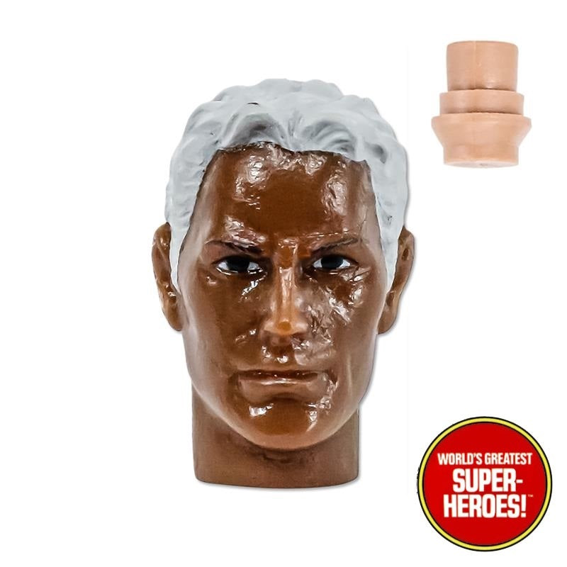"Type S African American Male Head w/ Grey Hair for Custom Mego 8"" Action Figure"