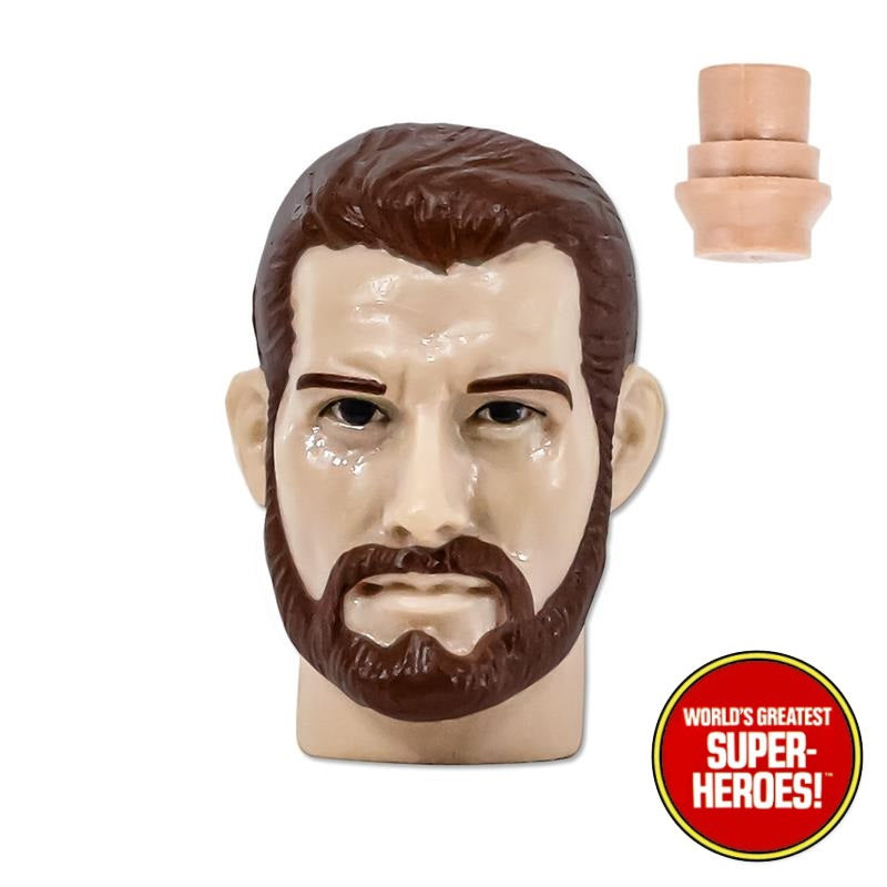 "Type S Brown Hair Bearded Type S Head For 8"" Action Figure"