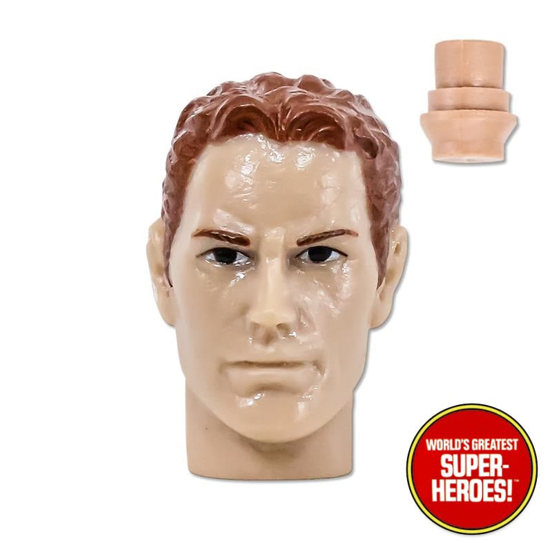 "Type S Dark Red Hair Male Head for Custom Mego 8"" Action Figure"