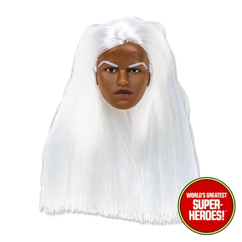 "White Hair Type S Female Head for African Brown Custom 8"" Action Figure"