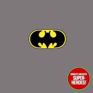 "Batman Mego Vinyl Die Cut Repro Decal Emblem Sticker for WGSH 8"" Figure - Worlds Greatest Superheroes"