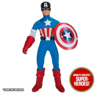 "Captain America Rubber Red Gloves Mego Reproduction for 8"" Action Figure - Worlds Greatest Superheroes"