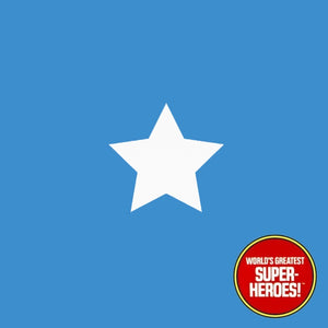 "Captain America Star Mego Vinyl Die Cut Decal Emblem Sticker for WGSH 8"" Figure - Worlds Greatest Superheroes"