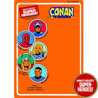 "Conan 1979 WGSH Repro Mego Blister Card For 8"" Action Figure - Worlds Greatest Superheroes"