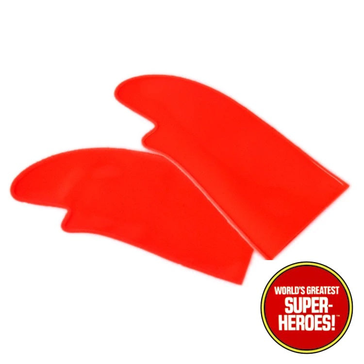"Captain America Custom Red Gloves Mego WGSH Reproduction for 8"" Action Figure - Worlds Greatest Superheroes"