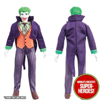 "Joker Complete Mego Repro Outfit For 8"" Action Figure - Worlds Greatest Superheroes"