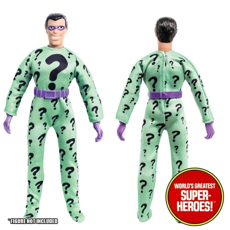 "Riddler Complete Mego WGSH Repro Outfit For 8"" Action Figure - Worlds Greatest Superheroes"
